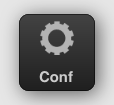 Button with gradient, icon and text