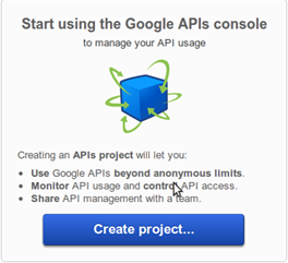 Google API first project