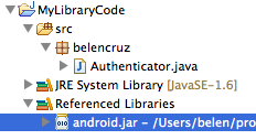 android.jar in project