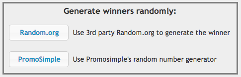 Generate winners randomly