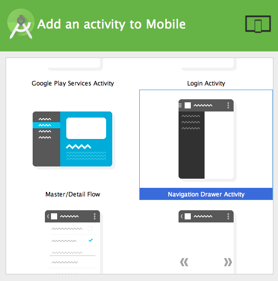 Create navigation drawer activity