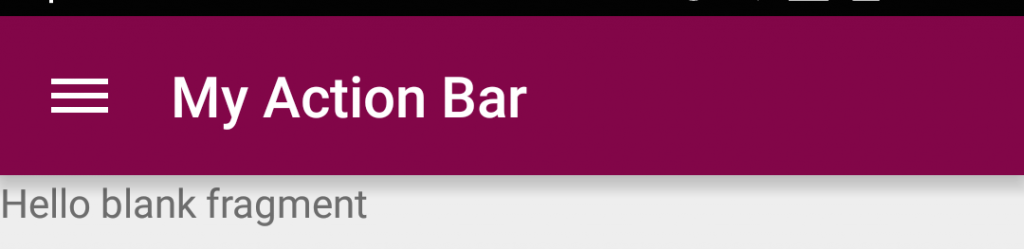 Custom Action Bar
