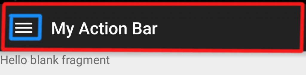 Default Action Bar