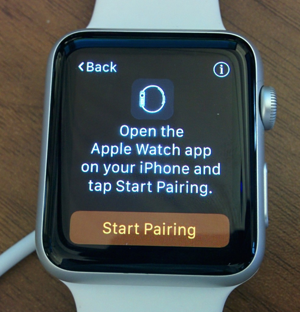 Apple Watch start pairing