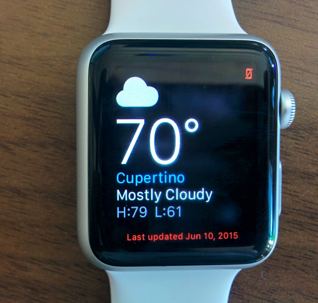 Apple Watch weather